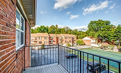 Patio / Deck, Woods Mill Park Apartments & Townhomes, 2