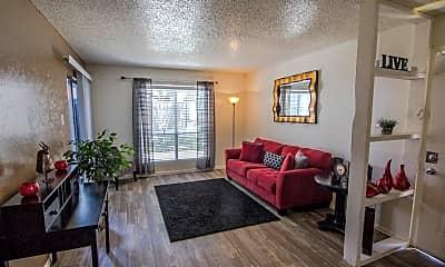 Living Room, Alamo Oaks, 1