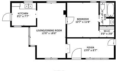 Bedroom, 924 N Alessandro St, 2