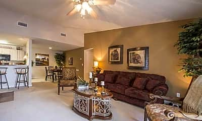 Living Room, Landings of Conroe Apartments, 1