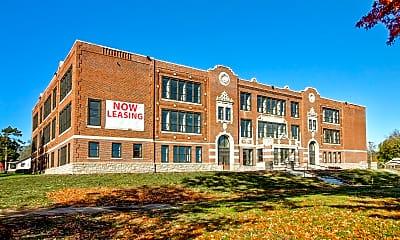 Building, Blenheim School Apartments, 1
