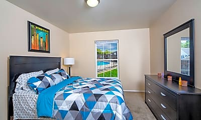 Bedroom, Eco Square Apartments of Evansville, 2
