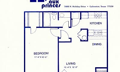 Bedroom, 7092 N Holiday Dr, 1