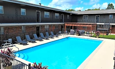 Pool, Quail Court Apartments, 0