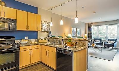 Kitchen, The Morgan at Loyola Station, 0