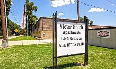 Community Signage, Victor Apartments, 2