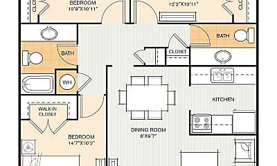 Bathroom, 2825 Royal Ln, 2