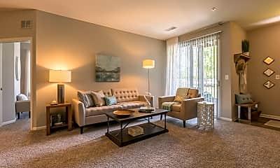 Living Room, Woodlake Apartments, 1