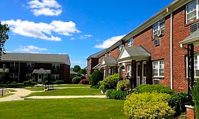 Courtyard, Clara Barton Apartments, 1