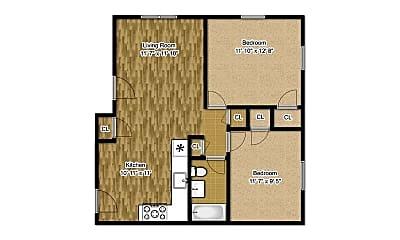 Bedroom, 120 Howard St, 2