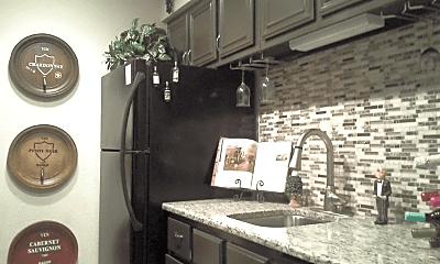 Kitchen, The Bridge Apartments, 0