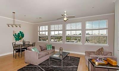 Living Room, 7707 Bluebonnet Blvd, 0