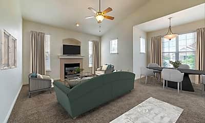 Living Room, Eagle Ridge Apartment Homes, 2