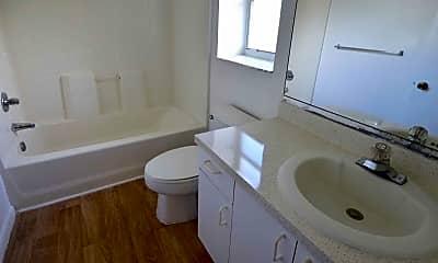 Bathroom, Palm Springs Apartments, 2