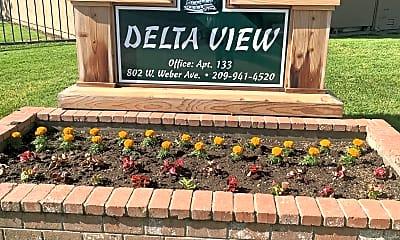 Community Signage, Delta View Apartments, 0