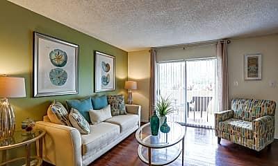 Living Room, L Estancia Garden Apartments, 1