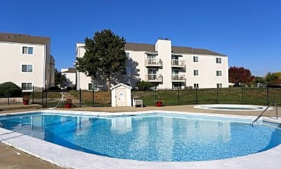 Pool, Whispering Pines Apartments, 0