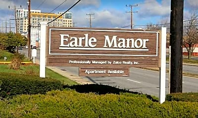 Community Signage, Earle Manor Apartments, 1