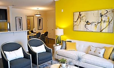 Living Room, Belmont at Tryon Apartments, 1