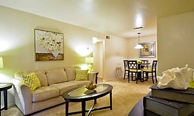 Living Room, Hillside Apartments, 0