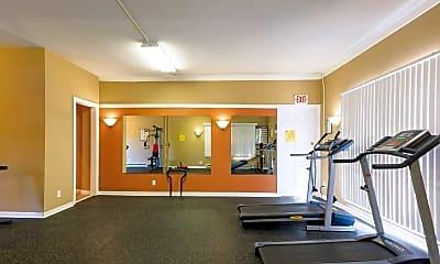 Fitness Weight Room, Tonkaway Apartments, 1