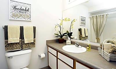 Bathroom, Churchill Place Apartments, 2