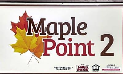 Community Signage, Maple Point Apartments, 2