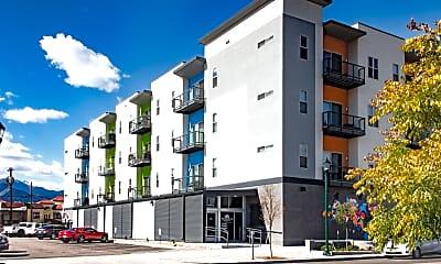 Building, Blue Dot Place Apartments, 1
