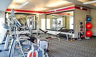 Fitness Weight Room, Lofts at Lincoln Station Apartments, 2