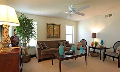 Living Room, The Fountains At Lee Vista, 1