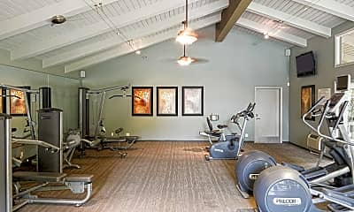 Fitness Weight Room, Village Lake Apartments, 1
