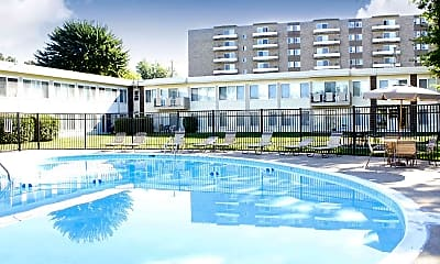 Pool, Executive Towers And Gardens Apartments, 1