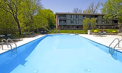 Pool, American Colony Apartments, 1