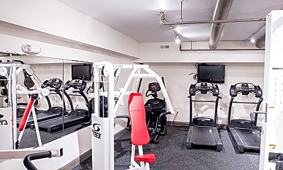 Fitness Weight Room, The Greentree Building, 2