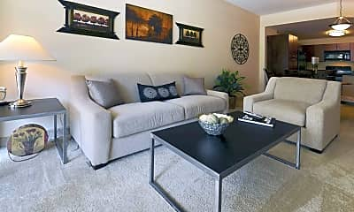 Living Room, The Encore On 7th Apartments, 1