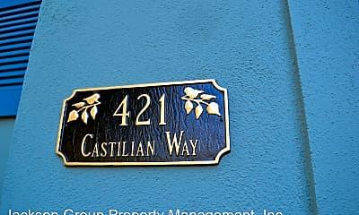 Community Signage, 421 Castilian Way, 2