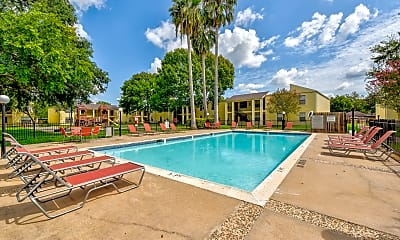 Pool, Oyster Creek Apartments, 1