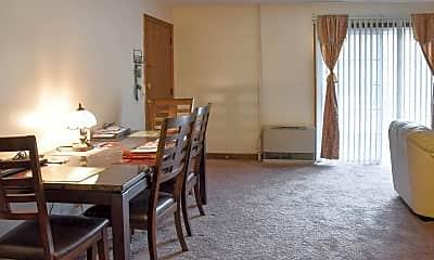 Living Room, Opechee Garden Apartments, 1