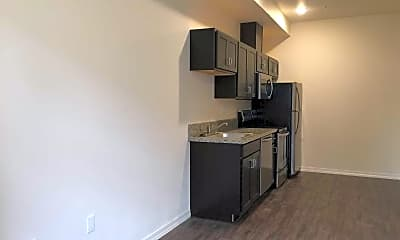 Kitchen, Cathedral Flats Apartments, 1