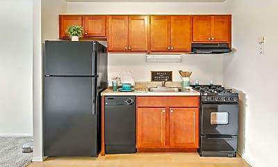 Kitchen, West Line Apartments, 1
