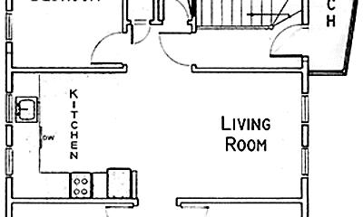 Bedroom, 405 E 76th St, 2
