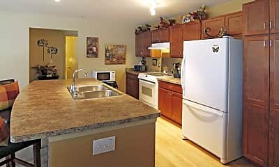 Kitchen, The Harbor at State and Main Senior Apartments, 1