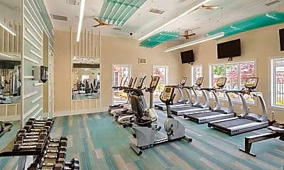 Fitness Weight Room, Clairmont at Harbour View Station, 1