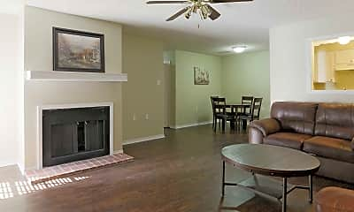 Living Room, Riverwood Apartments, 1