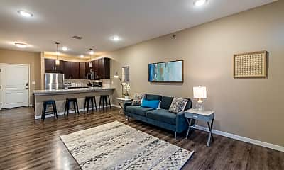 Living Room, Retreat Apartments & Townhomes at Urban Plains, 0