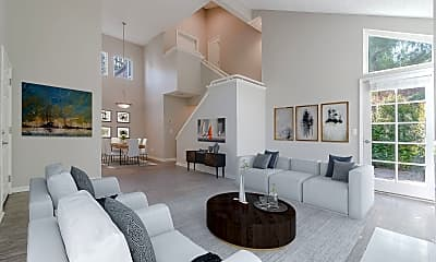 Living Room, Canyon Crest Views, 1
