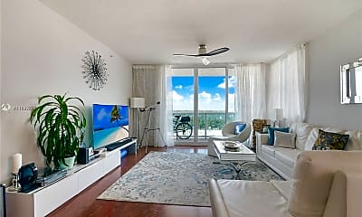 Living Room, 9201 Collins Ave 821, 1