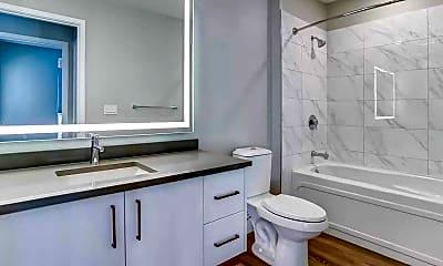 Bathroom, Trestle Apartments, 2