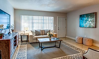 Living Room, Lake House Apartments, 1