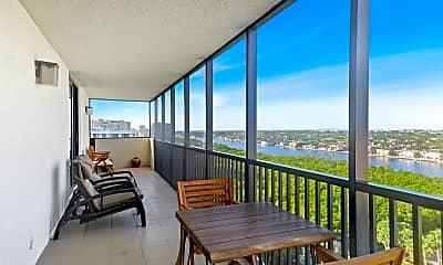 Patio / Deck, 3400 S Ocean Blvd 14M, 1